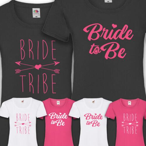 T-Shirt JGA Braut Frauen Bride To Be Tribe Junggesellinnenabschied Damen XS-XXL