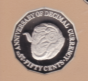 1991-Australia-50-cent-Rams-Head-Sheep-Proof-Coin-ex-Set