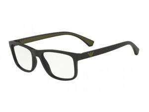 rivenditore all'ingrosso 1dcf0 fa175 Dettagli su Montatura Occhiali da Vista Emporio Armani Autentici EA3147  nero 5042