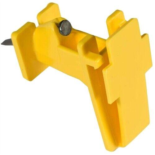 Zareba IWTNY-Z Poly Tape Wood Post Insulator, Yellow, 25 per Bag