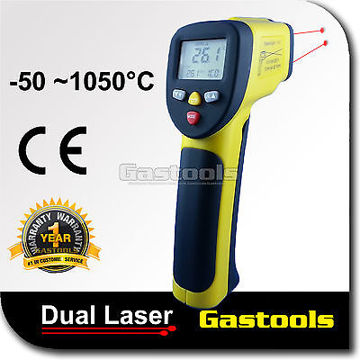 Infrared Thermometer Digital Pyrometer IR Non Contact Temperature Laser 1050°C