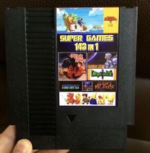 Super Games 143 In 1 Nintendo Nes Cartridge Multicart V1 01 153 In 1