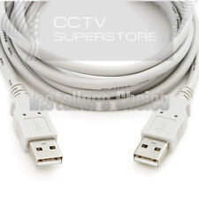 3ft USB 2.0 Type A Male to A Male Cable White Cord