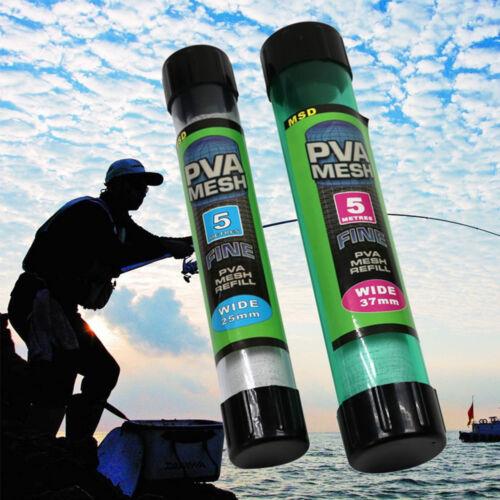 18//25//37mm PVA Mesh Narrow Refill Spools Bags Bait Carp Fishing Tackle Tool NEU.