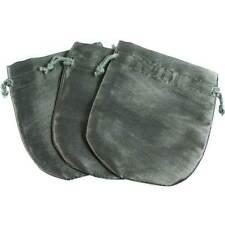 3 Paksatin Gray Green Jewelry Gift Pouches