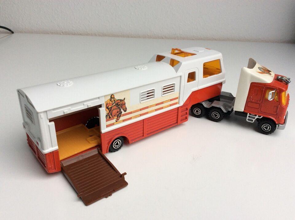 Modellastbil, Majorette Hestetransporter, skala 1:60