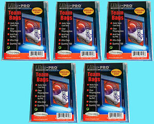 Details About 500 Ultra Pro Team Set Bags Resealable Strip Trading Card Baseball Uv 5 Packs