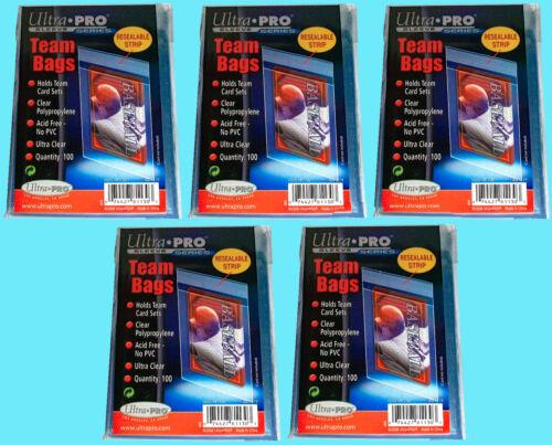 500 Ultra Pro TEAM SET BAGS Resealable Strip Trading Card Baseball UV 5 Packs