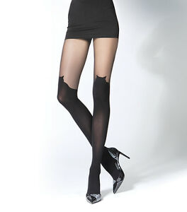 Luxury-Lady-Black-3D-System-Tights-Pantyhose-with-Cat-Head-top-Shape-Hosiery-T23
