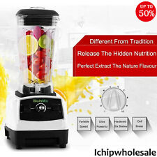 2l 2200w Commercial Grade Blender Mixer Fruit Juicer Ice Food Processor Black Ic