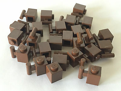 *NEW* 25 Pieces Lego BRICK WITH HANDLE 1x1 OLD DARK GRAY 2921
