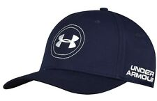 New Under Armour Golf hat cap navy blue flex fit M/L Medium/Large Jordan Spieth
