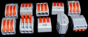 10 x 3 Way Spring Lever Electric Terminal Block Cable Connector - France - État : Neuf: Objet neuf et intact, n'ayant jamais servi, non ouvert, vendu dans son emballage d'origine (lorsqu'il y en a un). L'emballage doit tre le mme que celui de l'objet vendu en magasin, sauf si l'objet a été emballé par le fabricant d - France