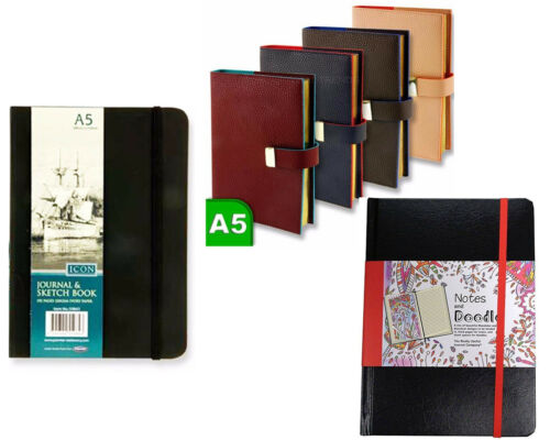 A5 Notebook Diary Sketch Book Colour Ruled Journal Art Notes Office School Book