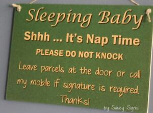 Sleeping-Baby-Shhh-Nap-Time-Do-Not-Knock-Wooden-No-Soliciting-Warning-Sign