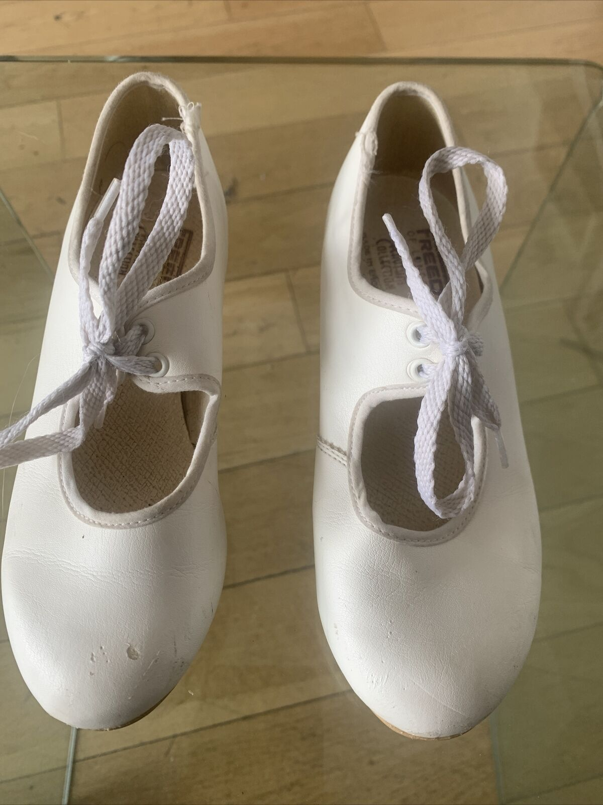 Freed of London Children's White Tap Shoes Size 13 Low Heel