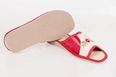 Las mujeres `s/ladies Cuero Zapatillas 100% Cuero Natural Talla: Uk 3,4,5,6,7,8