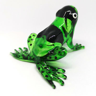 Figurine RED FROG Lampwork Collectible HAND BLOWN Art GLASS Decor Statue
