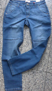 Sheego-Stretch-Jeans-Trousers-Size-48-Quilting-at-the-Leg-Blue-518