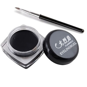 Schwarz-Wasserdicht-langjaehrige-Augen-Liner-Lidstrich-Gel-Schminke-Kosmetik-I8B2