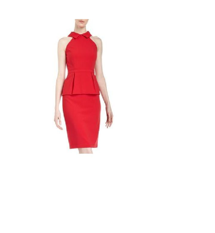 New Womens BCBGmaxazria Red Peplum Dress Size 4