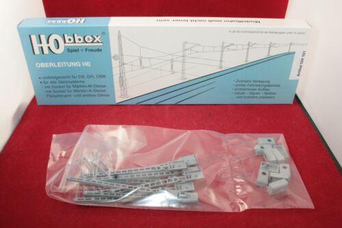 Hobbex OH 101 Spur H0 Oberleitung 10 x Streckenmaste //Neu//OVP kurzer Ausleger