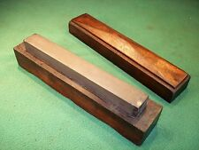 Rare Vintage Narrow Section Charnley Forest Razor Oil Sharpening Stone Mahogany