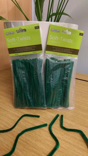 """2 Packs De 50 6/"""" 15 cm Soft Twists plante de jardin papillon Outdoor Wire"""