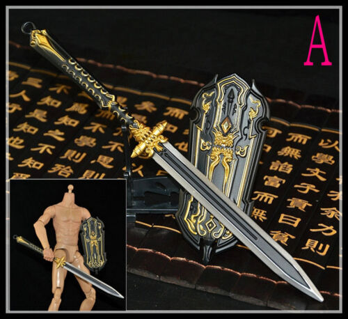1:6 Scale Soldier Model Weapon Accessories Ancient cold weapon sword and shield