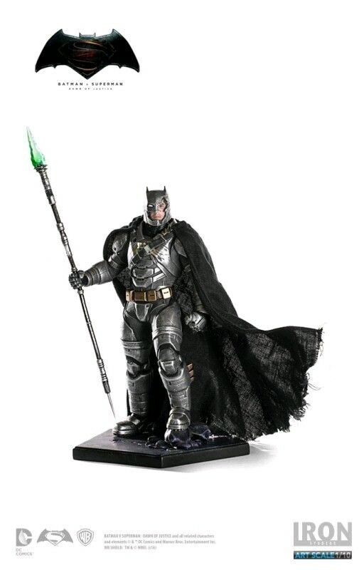 Other Statues--Batman v Superman - Batman ArmoROT Battle Damaged 1:10 Scale S...