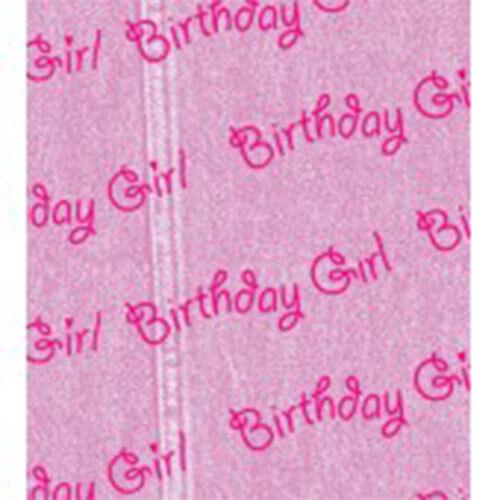 Birthday Girl papier tissu multi annonce 500x750mm