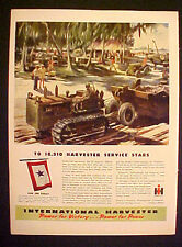 1944 WWII International Harvester Tractor Truck Military War Memorabilia AD