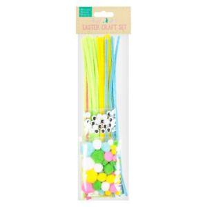 Easter-Kids-Craft-Set-Googly-Eyes-Pipe-Cleaners-Pompoms-Bonnet-Egg-Decoration