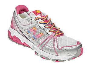 Children-039-s-NEW-BALANCE-Shoes-GREY-PINK-Nylon-kj689sry