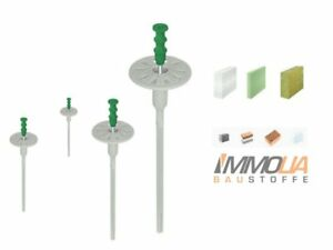 100-Stk-8mm-175mm-Schraubduebel-Daemmstoffduebel-f-Styropor-Styrodur-Mineralwolle