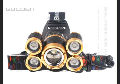 Adjustable Led Headlamp Outdoor Working Night Light Flashlight 30W 12000LM ST725