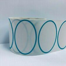 Thermal Transfer Blue Oval Border 500 Labels 1 Core Zebra Datamax Printers