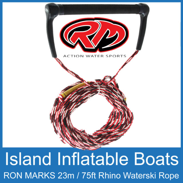 WATER SKI ROPE 75FT / 23M PROFESSIONAL LONG VEE WAKEBOARDING From RON MARKS NEW