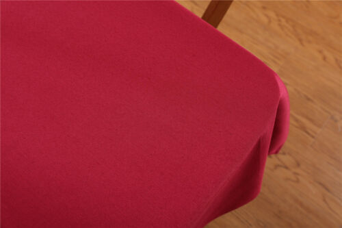 Rectangle Table Cover Cloth Home Party Decoration Solid Plain Tablecloth 8 Size