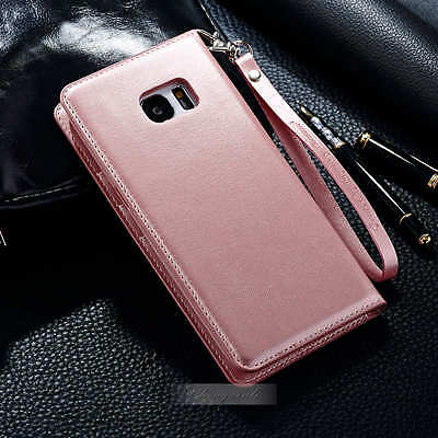 Fashion Slim Magnetic Leather Card Wallet Case Cover For Samsung Galaxy Note 7