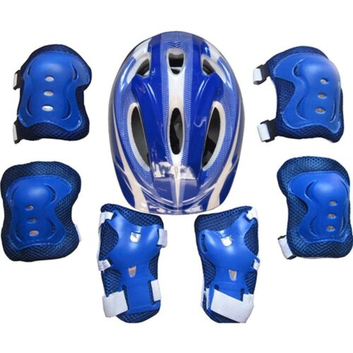 Boys /& Girls Kids Skate Cycling Bike Safety Helmet Knee Elbow Pad Set  HOT