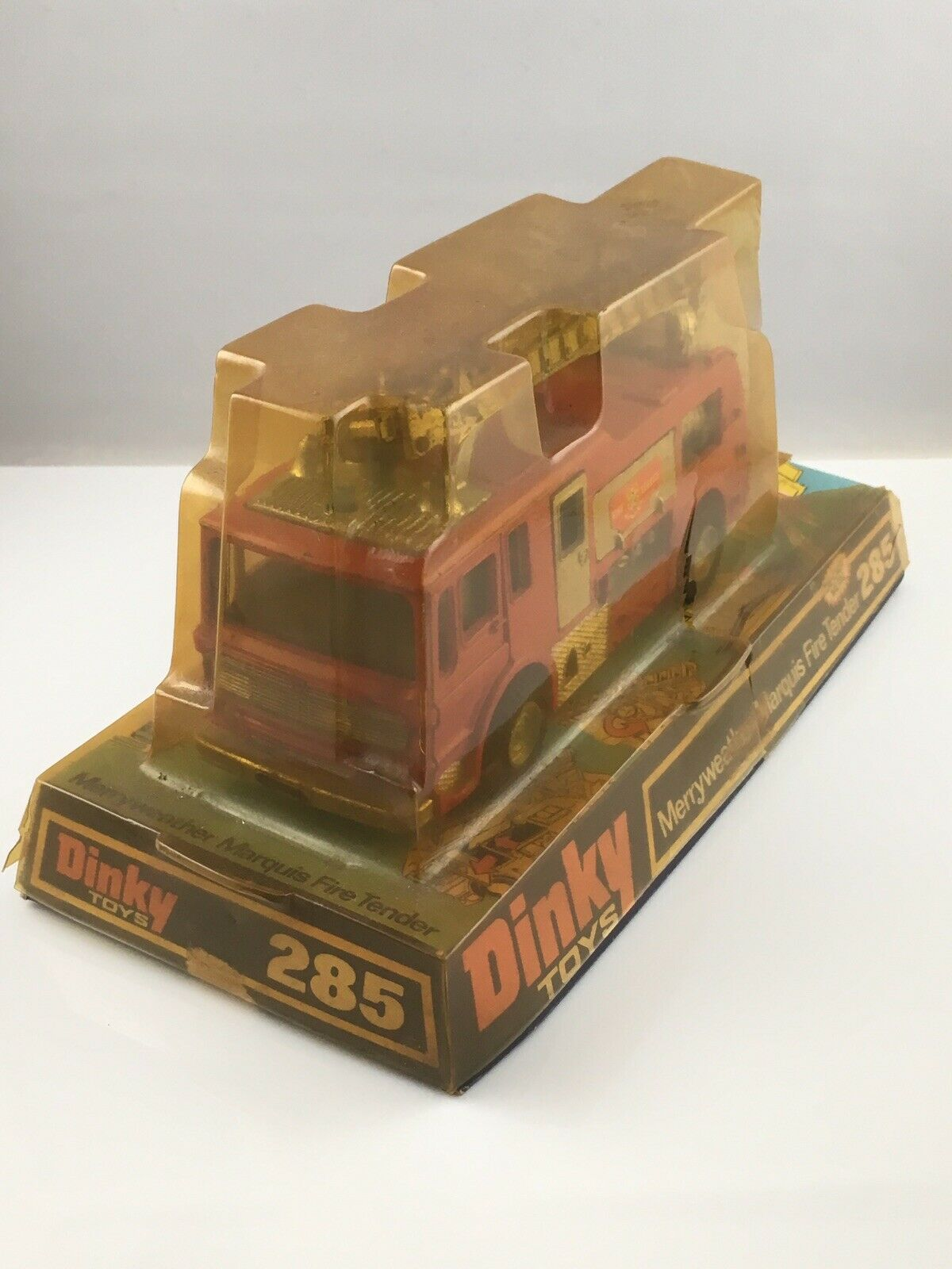 Dinky Toys 285 Merryweather Marquis Fire Tender Bubble Base Box Boxed
