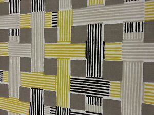 Yellow-Black-amp-Tan-Contemporary-Upholstery-Fabric-54-034-Wide-3-yd-pc-Can-CTO