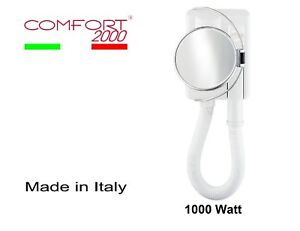 Wall-hair-dryer-for-hotels-phon-bathrooms-with-mirror-COMFORT-2000