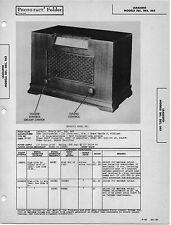 1946 LEARADIO 561 RADIO SERVICE MANUAL PHOTOFACT SCHEMATIC DIAGRAM REPAIR FIX