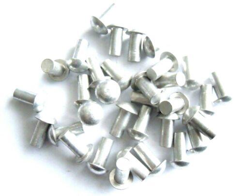 Aluniete Halbrundniete 2,5x5mm DIN 660 Vollnieten  Aluminium 10 Stück Rundkopf