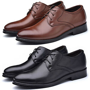 6950d51f0be9 Details about Men's Formal Dress Shoes Cap Toe Lace Up Oxfords Synthetic  Leather Business Shoe