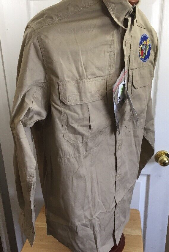 5.11  TACTICAL Medium Mens Taclite Pro Shirt, Khaki New Teflon Repel Long Sleeve  outlet online store