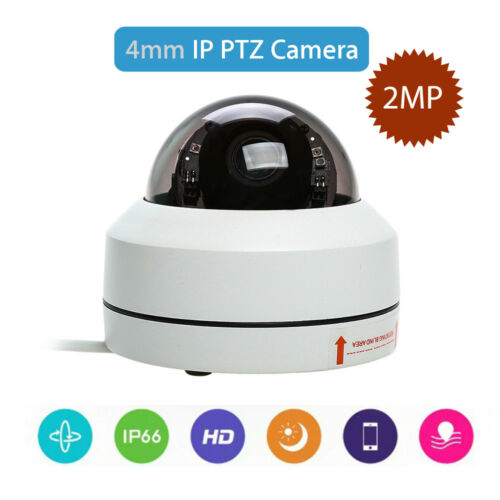 Smart IP 2MP Camera Dome Security 4mm Infrared HD 1080P Outdoor Pan Tilt H.265