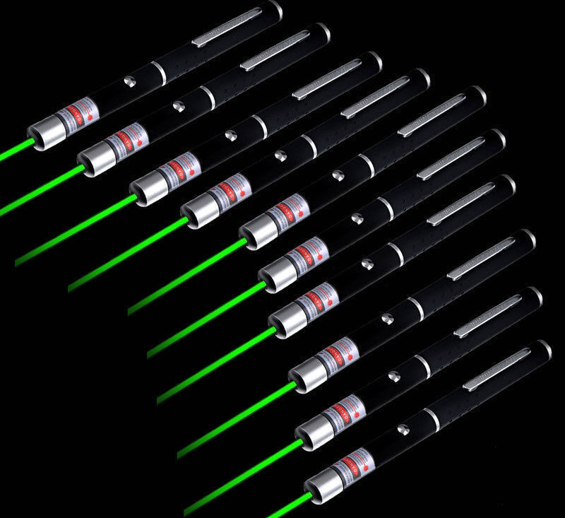 10Pcs Military Powerful 532nm Green Laser Pointer Pen Visible Beam Light Lazer